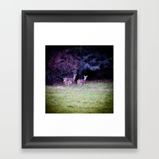 The Dear Deer Family Framed Art Print