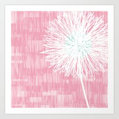 Pink Doodle Floral by Friztin Art Print