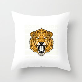 lion for people who like sensitive savages  Throw Pillow