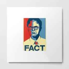 Fact Metal Print