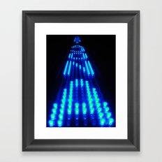 Enter the Void Blue Framed Art Print