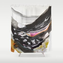 Day 44: The exchange between a tired body and a lively mind. No peace can be held in the soul until Shower Curtain