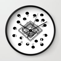 cycling Wall Clocks featuring Contingency Cycling by Night Version