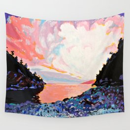 Dusk at Echo Bay; Saturna Island 4 Wall Tapestry