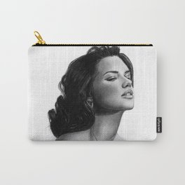 Adriana Lima Portrait Pencil Drawing Carry-All Pouch