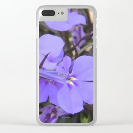 Crystal Lobelia Clear iPhone Case