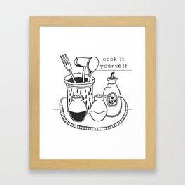 Cook it Yourself Folk Art Framed Art Print