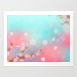 Sunset Spring Art Print
