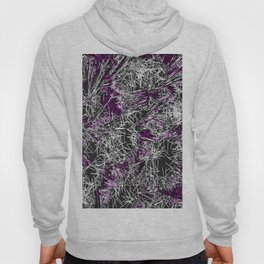 psychedelic geometric sketching abstract in pink purple black and white Hoody