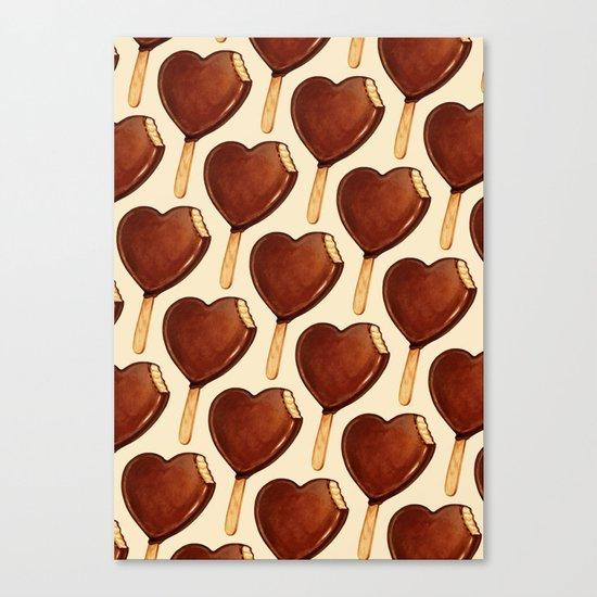 Ice Cream Pattern - Heart Canvas Print