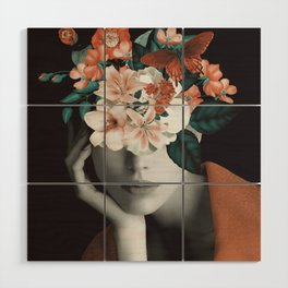 WOMAN WITH FLOWERS 7 Wood Wall Art