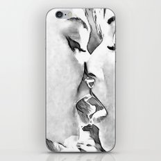 Girls Love - sexy lesbian girls kissing, black and white kinky erotic, hot gay woman iPhone Skin