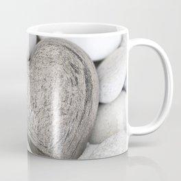 Stone Heart and pebble greige tones Coffee Mug