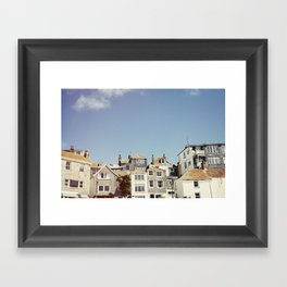 St. Ives house with tilt and shift view. Framed Art Print