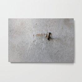Nail on White Wall Metal Print