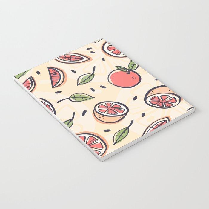 Red Grapefruit for Breakfast Notebook
