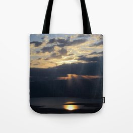 Sunrise over the Dead Sea Tote Bag