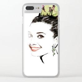 Vogue Fashion Illustration #15 Clear iPhone Case