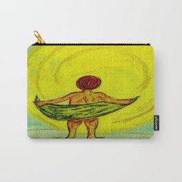 Toweling at the Moon Carry-All Pouch
