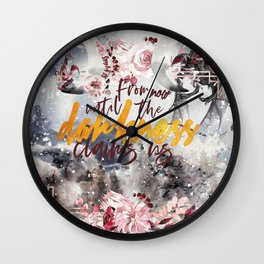 Darkness claims us Wall Clock