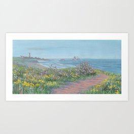 Piedras Blancas Light Station Painting Art Print