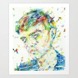 TRUMAN CAPOTE - watercolor portrait Art Print