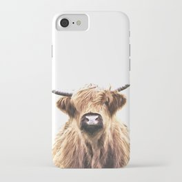 Highland Cow Portrait iPhone Case