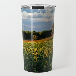 Summer sunflower field Travel Mug