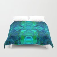 stained glass Duvet Covers featuring Stained-glass.  by Assiyam