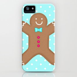 Yummy Gingerbread Man Cookie iPhone Case