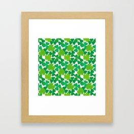 Shamrock Pattern Framed Art Print