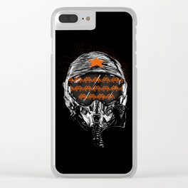 Space War Clear iPhone Case