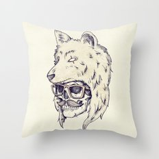WOLF HAT Throw Pillow