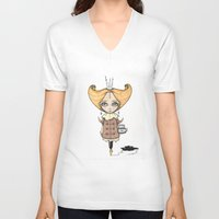 crown V-neck T-shirts featuring Crown by About Time Mr Wolfe