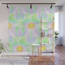 Daisies In Pastel Colors By Annie Zeno Wall Mural