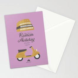 Roman Holiday, Audrey Hepburn,movie poster, Gregory Peck, William Wyler, romantic hollywood film Stationery Cards