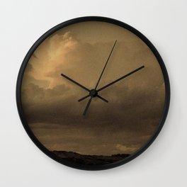 Sepia Storm - San Rafael Reef - Utah Wall Clock
