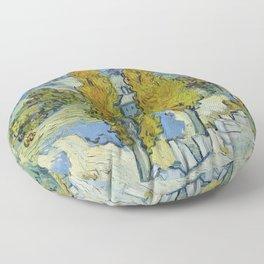 The Poplars at Saint-Rémy by Vincent Van Gogh Floor Pillow