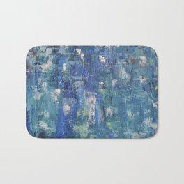 Abstract blue Bath Mat