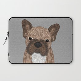 Brown Frenchie Puppy 001 Laptop Sleeve