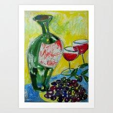 Olives & Wine Art Print