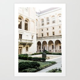 Boston Library Courtyard Art Print
