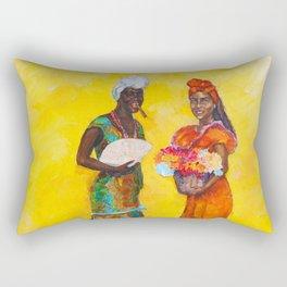Flower Ladies Rectangular Pillow