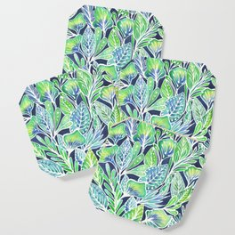Masked Flora Collection Leaves Coaster