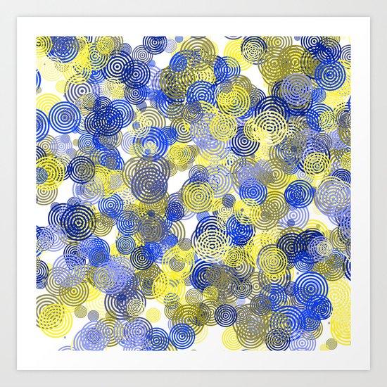 colourful circulars II Art Print