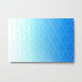 Silver to Blue Gradient Metal Print