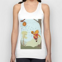 pooh Tank Tops featuring Pooh Rose by Jen Hynds
