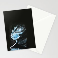 Cat Blue Stationery Cards