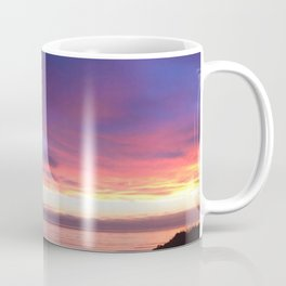 Purple and Pink Summer Beach Sunset Coffee Mug