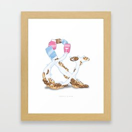 Cookies & Milk Framed Art Print